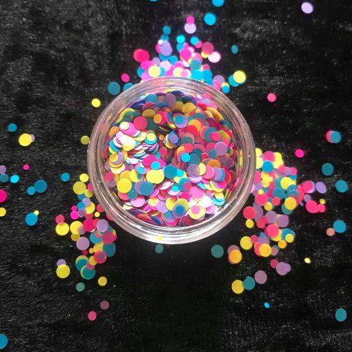 Buy Blue & Pink Nerds Inspired Chunky Glitter