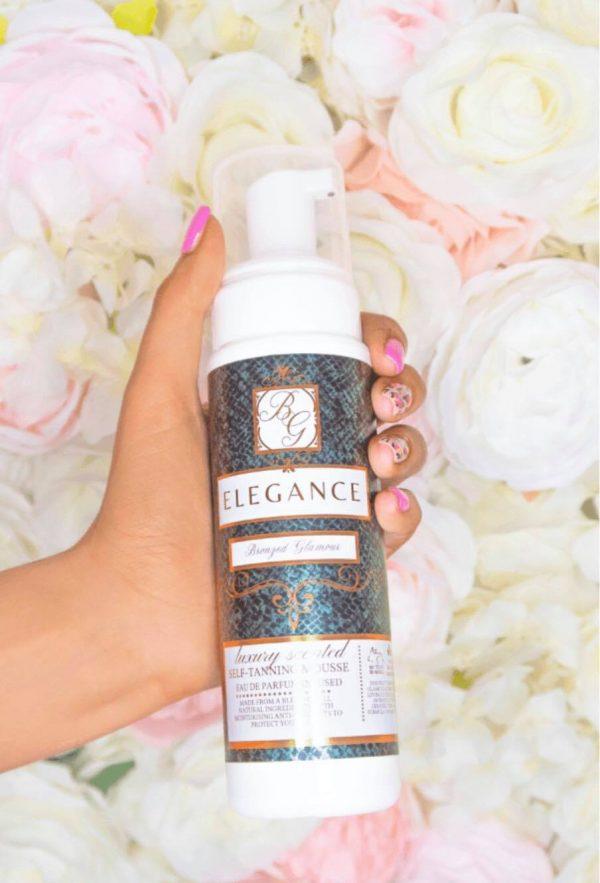 BRONZED GLAMOUR Designer Fragrance Inspired Luxury Scented Medium Self Tan Mousse - Elegance