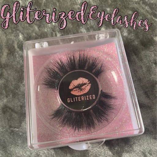 Gliterized Eyelashes